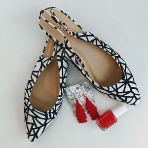 Just Fab • Pointed Geometric Flats
